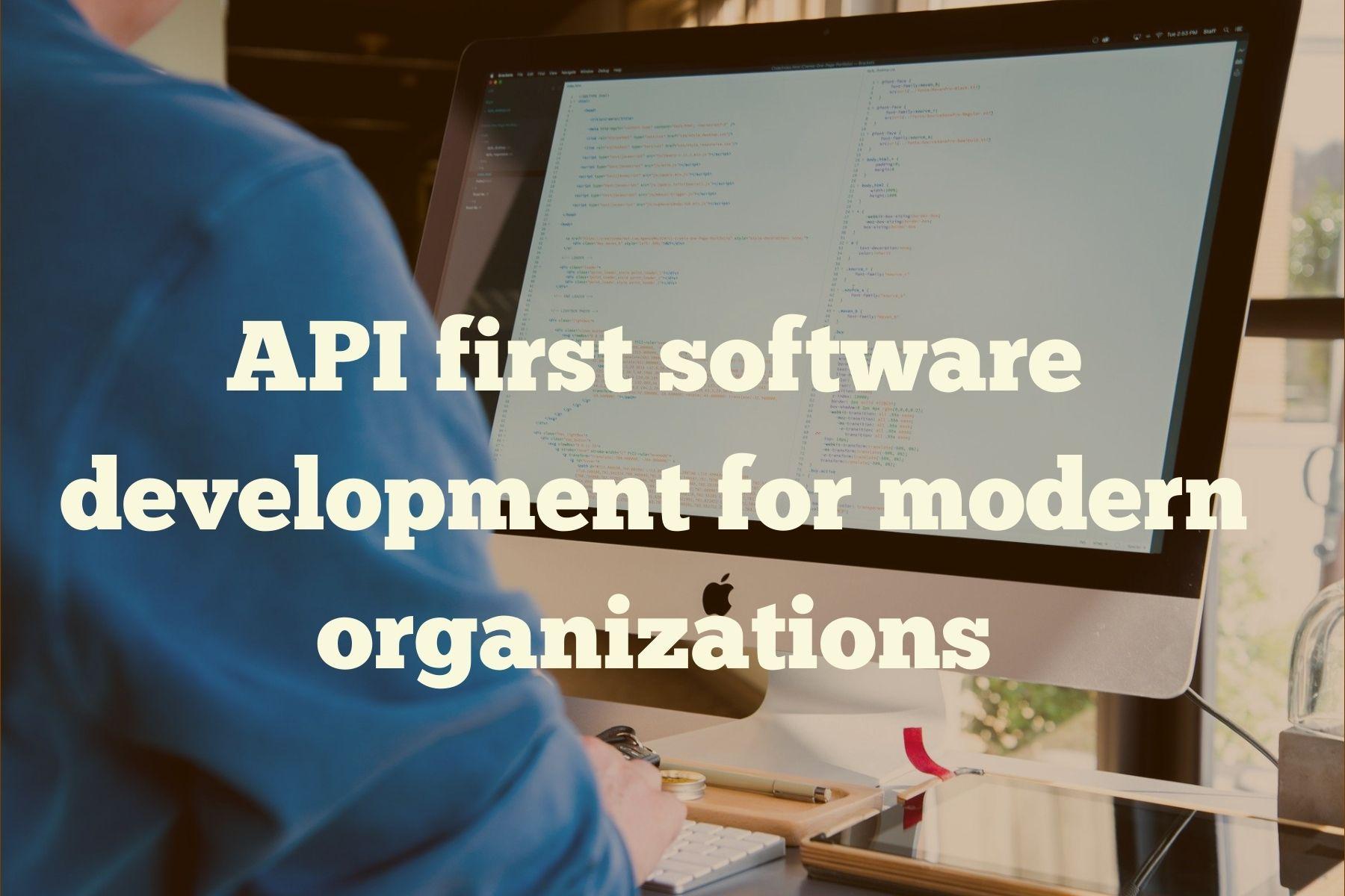 API first software development